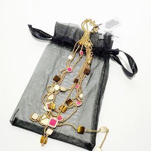 WHBM Semi-Precious Layered Chain Necklace